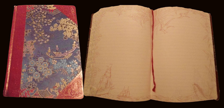 Notebook cover and pages