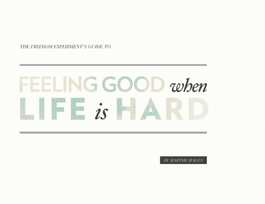 Feeling Good When Life is Hard cover