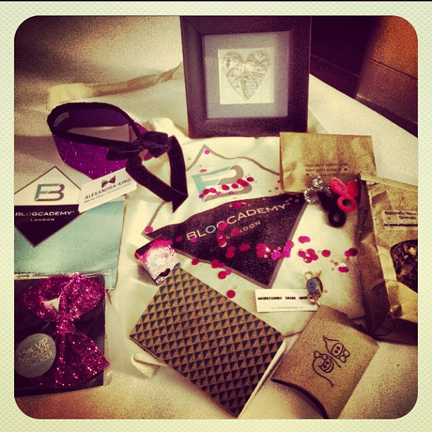 The Blogcademy goodie bag
