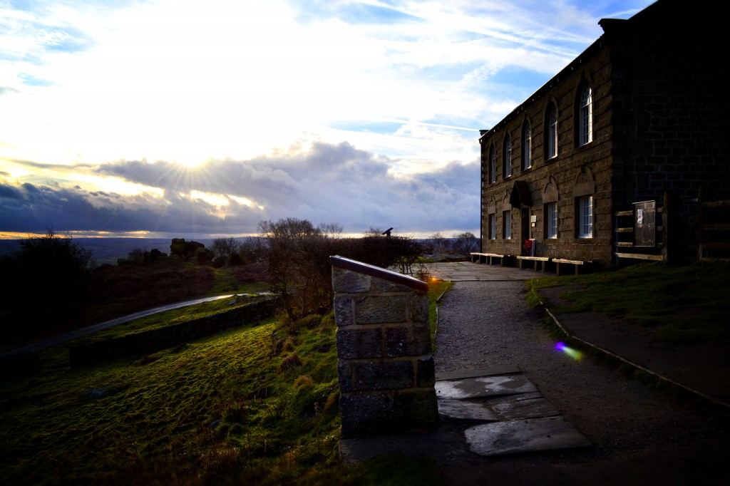 Brimham Rocks visitor centre close up
