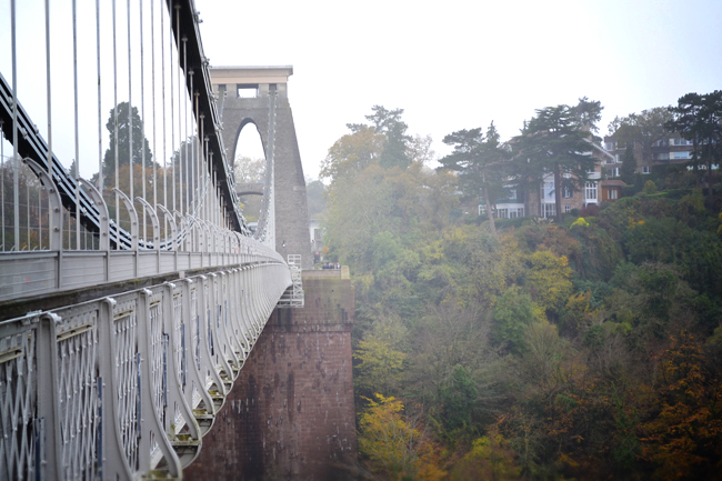 Clifton suspension bridge close up