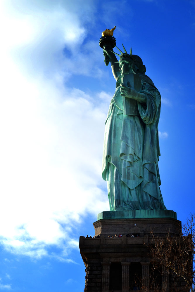Statue of Liberty in the sun