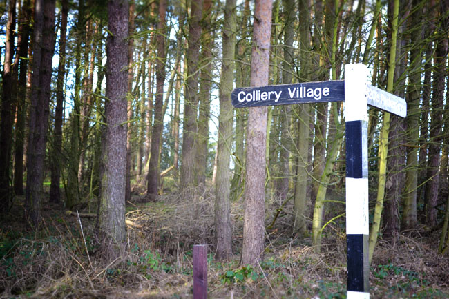 Colliery signpost