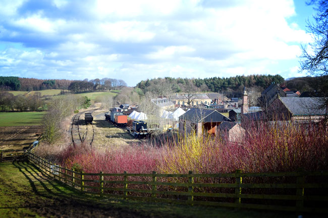 Beamish Colliery village