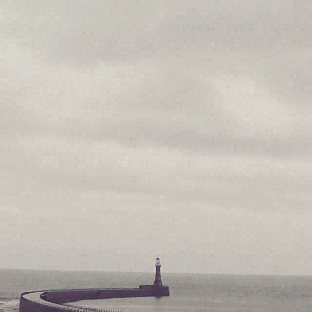 Grey day at Roker pier