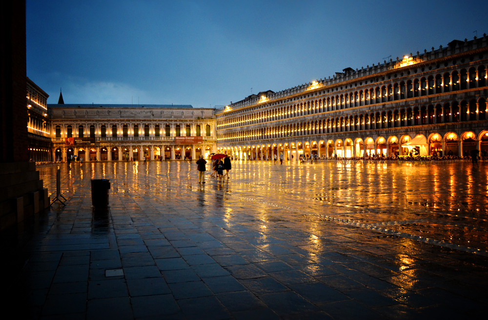 St Mark's Square in the rain