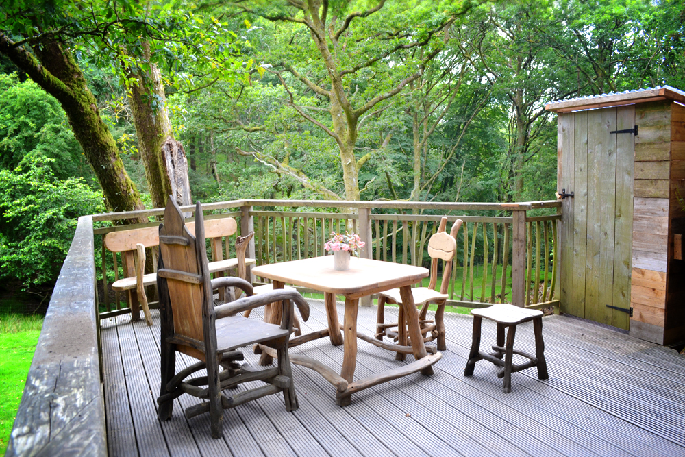 Treehouse seating area
