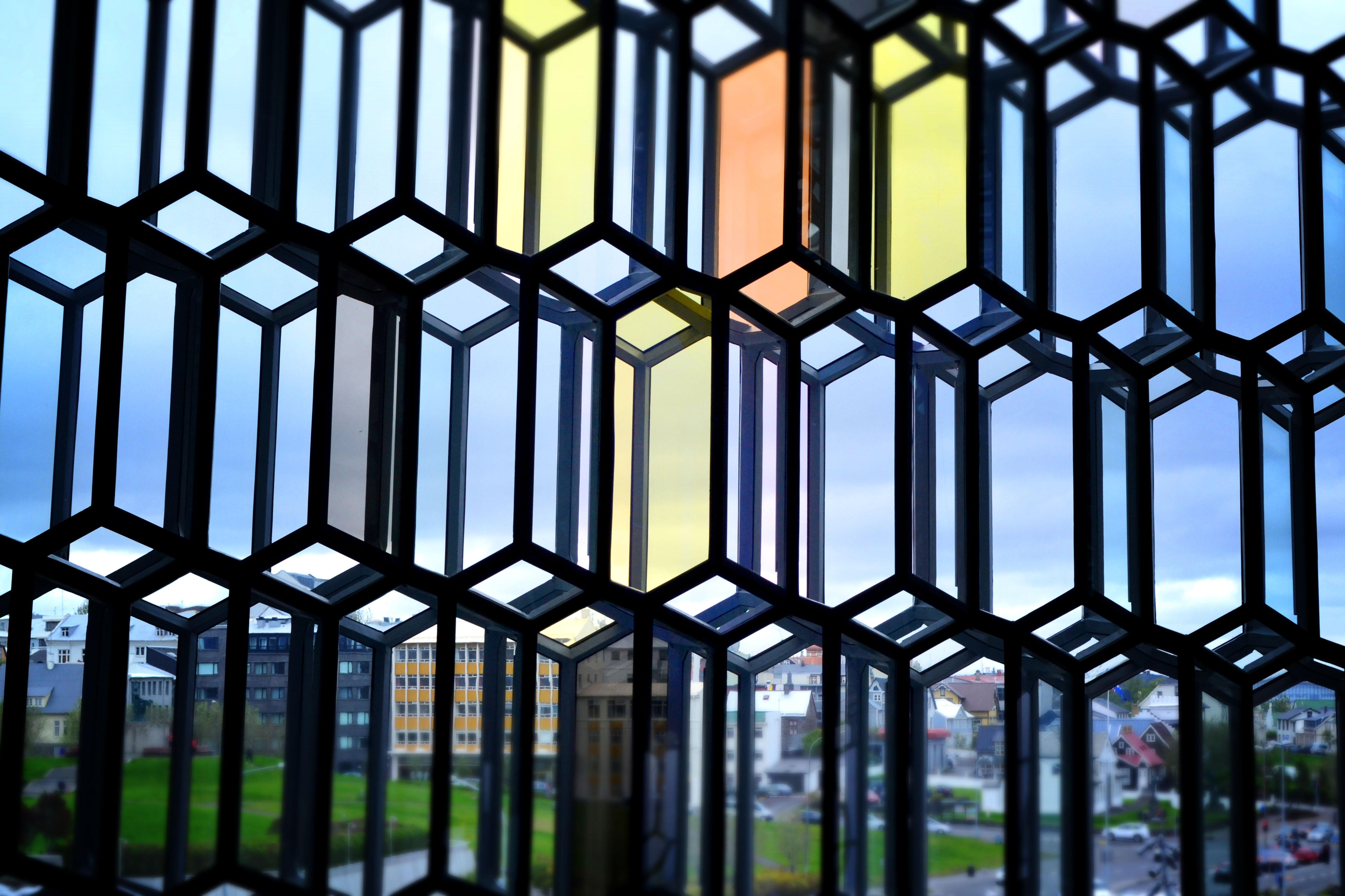Coloured glass Harpa