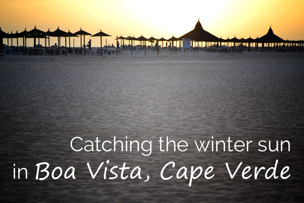 Catching the winter sun in Boa Vista, Cape Verde