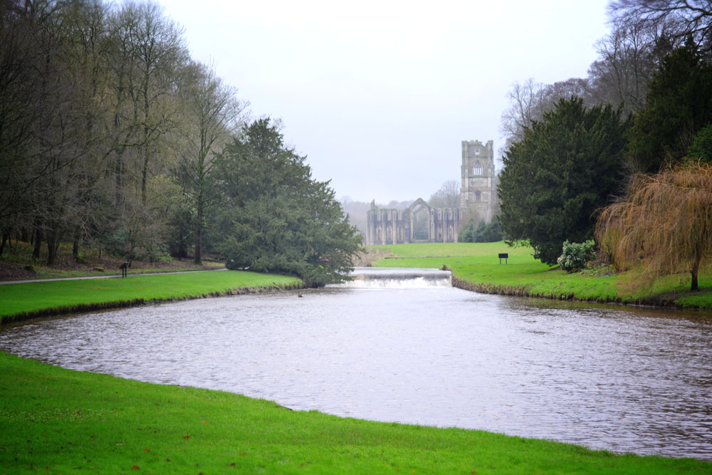 Fountains Abbey view