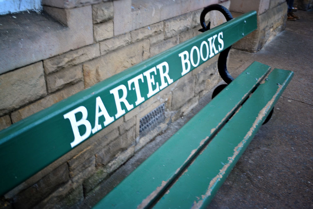 Barter Books bench