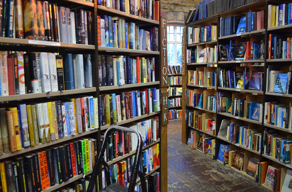 Bookshelves at Barter Books