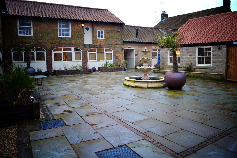 Ox Pasture Hall Scarborough courtyard