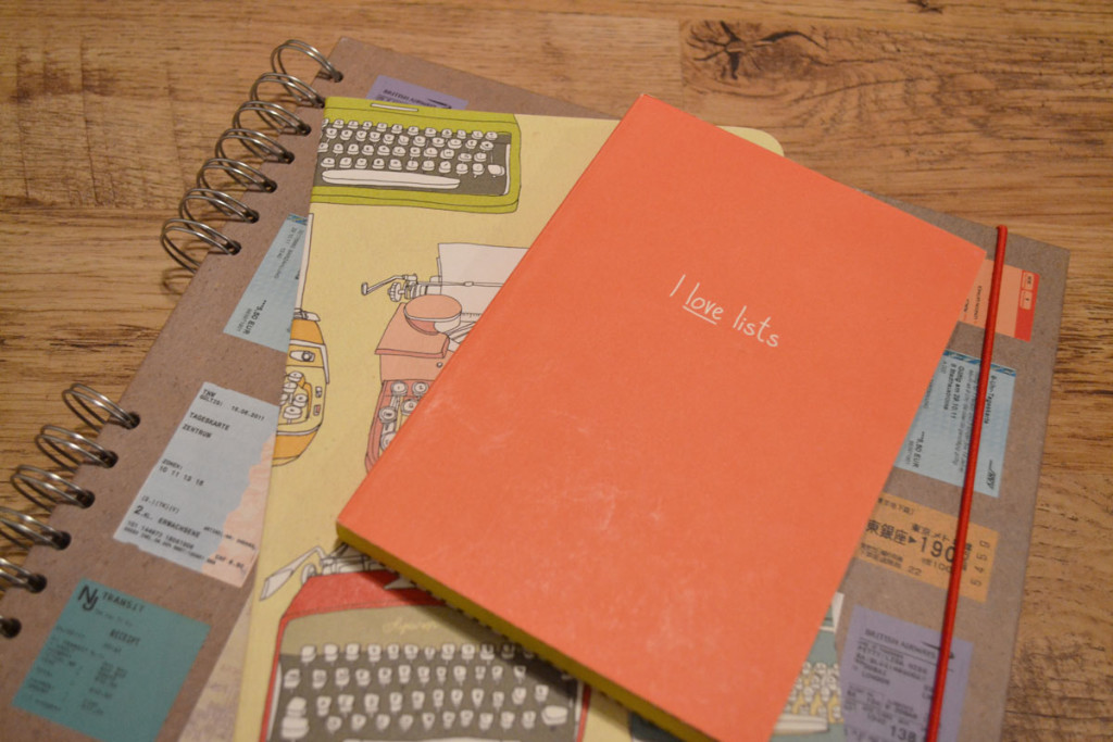 I love lists notebook