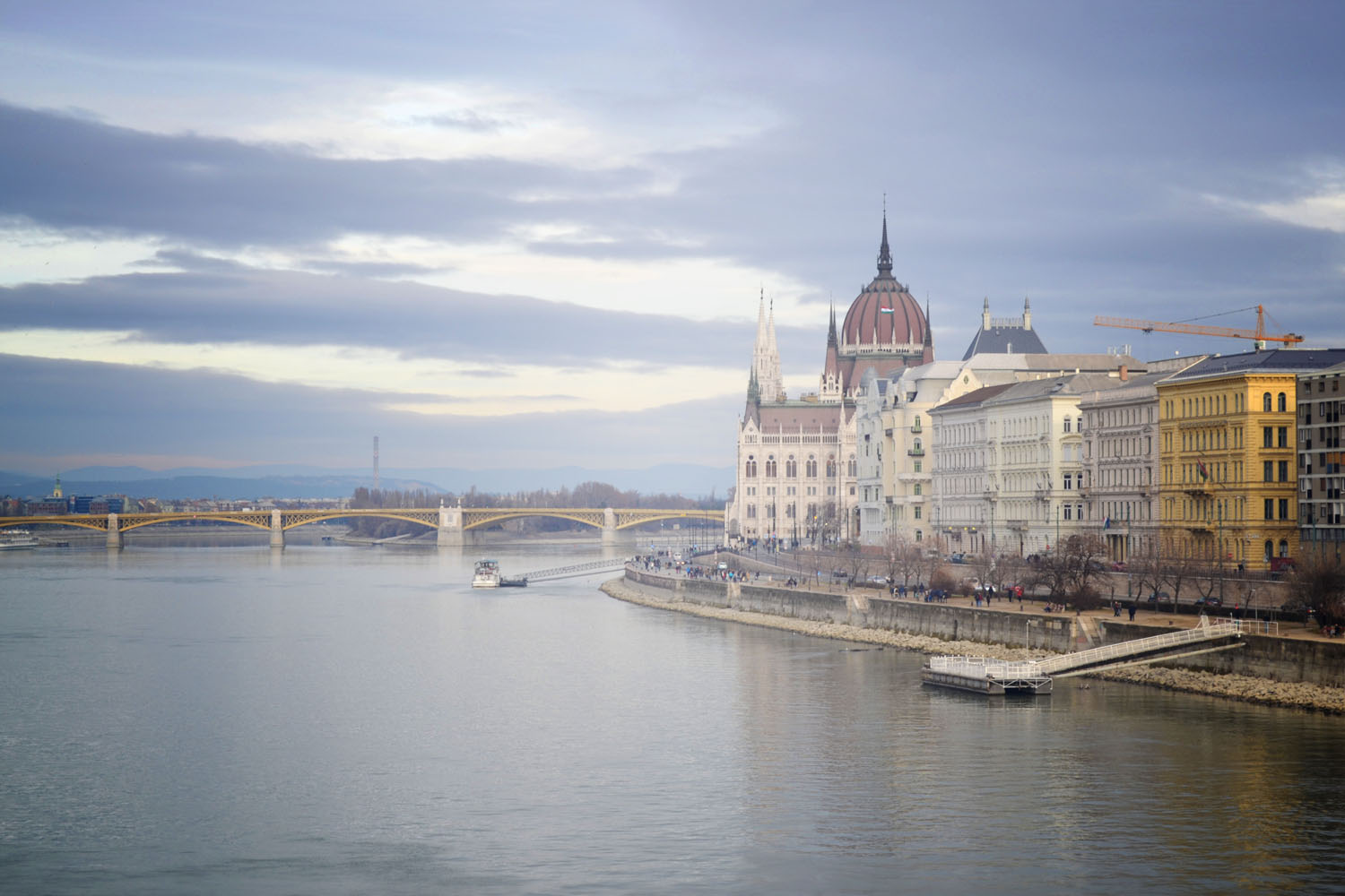 View of Hungarian Parliament from Chain Bridge