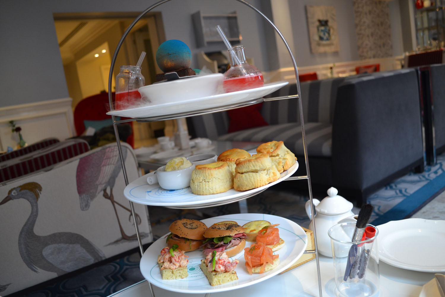 Science themed afternoon tea Ampersand Hotel London