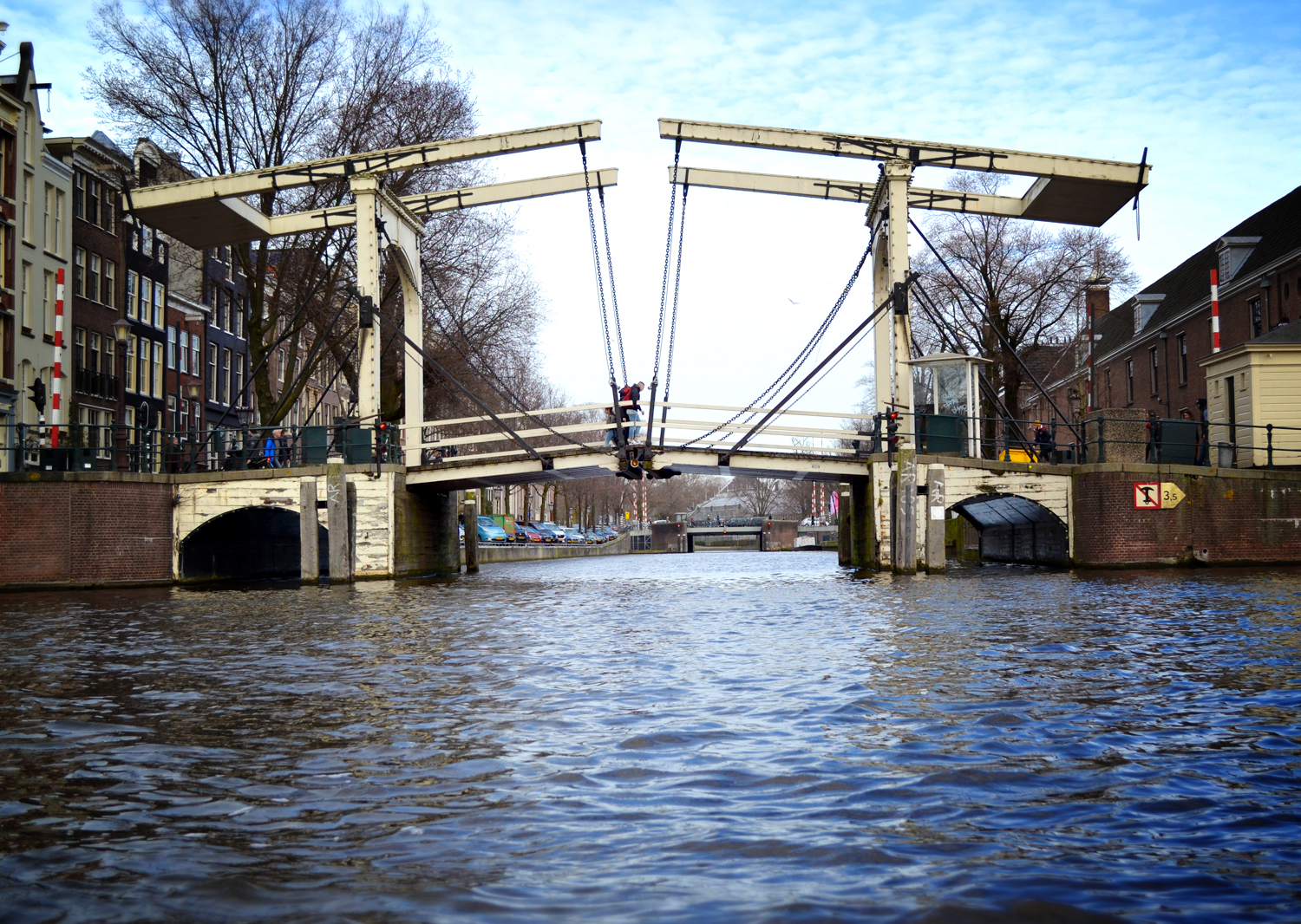 Amsterdam raised bridge